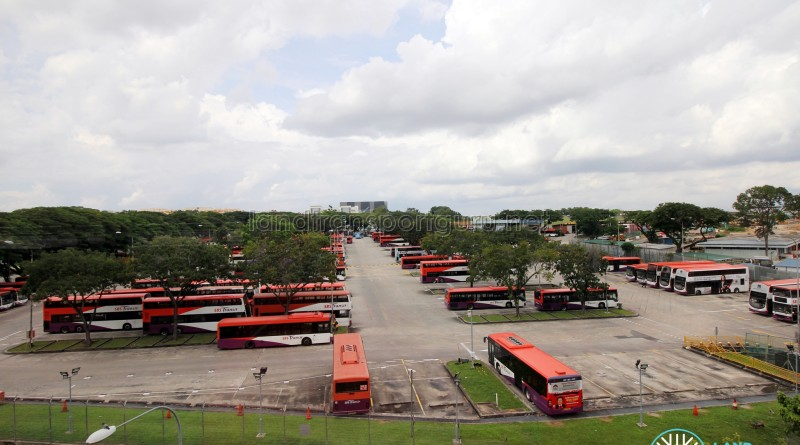 Overhead view of Hougang Bus Depot