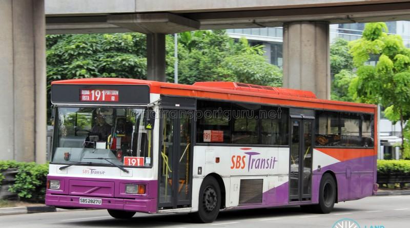 SBS Transit Volvo B10M MkIV DM3500 (SBS2827U) - Service 191