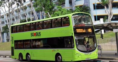 SBS Transit Volvo B9TL Wright (SG5556T) - Service 45