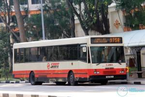 SMRT DAF SB220 (TIB700X) - Service 975A