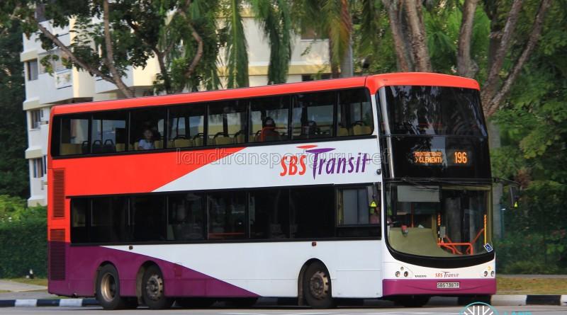 SBST Volvo B9TL CDGE (SBS7387P) - Service 196