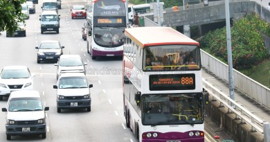 SBS Transit Short Trip Service 88A and its parent Service 88 along Ang Mo Kio Avenue 5
