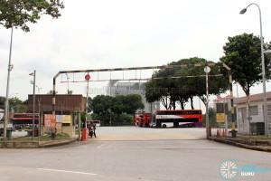 Ayer Rajah Bus Park entrance along Ayer Rajah Crescent