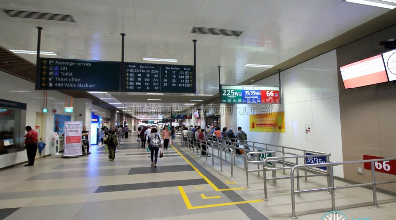 Bedok Bus Interchange - Passenger concourse near Berth B2