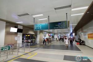 Bedok Bus Interchange - Passenger concourse near Berth B4
