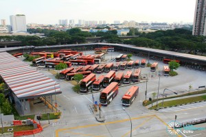 Bedok Temporary Bus Interchange - Overhead