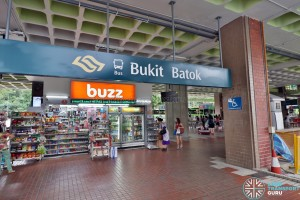 Bukit Batok Bus Interchange - Entrance from MRT Station