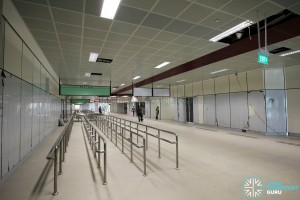 Interchange concourse interior undergoing fitting works