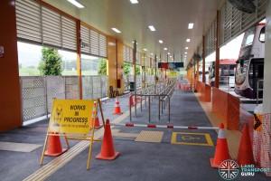 Changi Business Park Bus Terminal - Berths 1 & 2 under construction