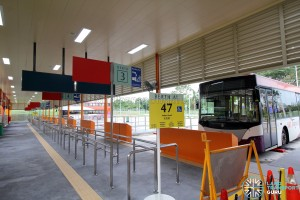 Changi Business Park Bus Terminal - Berths 1 & 2 used by Service 47