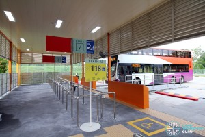 Changi Business Park Bus Terminal - Berths 7 & 8 used by Service 118