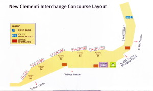 Layout of Clementi Bus Interchange