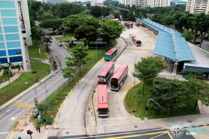 Clementi Temporary Bus Interchange - Overhead view