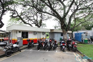 Lorong 1 Geylang Bus Terminal - Motorcycle parking and Portable toilets