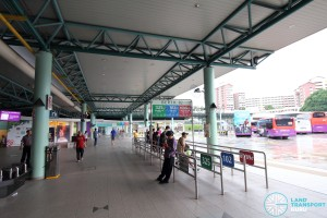 Hougang Central Bus Interchange - Concourse near Berth B2