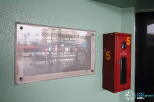 Hougang Central Bus Interchange - Opening Plaque