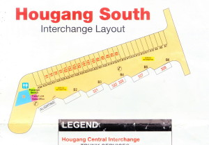 Layout of Hougang South Bus Interchange