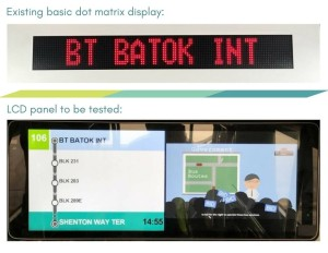 LTA supplied graphics of the existing LED panel and new LCD PIDS screen