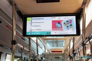 LTA's trial PIDS (LCD screen) supplements the existing LED dot-matrix panel that only displays the bus stop name