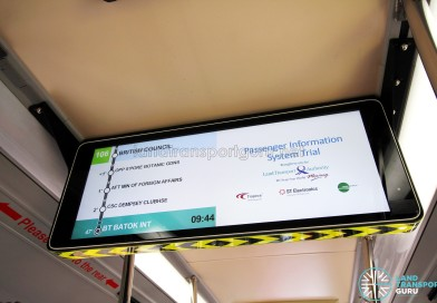 LTA trials new information display for buses