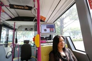 LTA's Trial passenger Information Display in 2015, installed onboard SBS6103Z