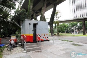 Marina Centre Bus Terminal - SMRT container toilet