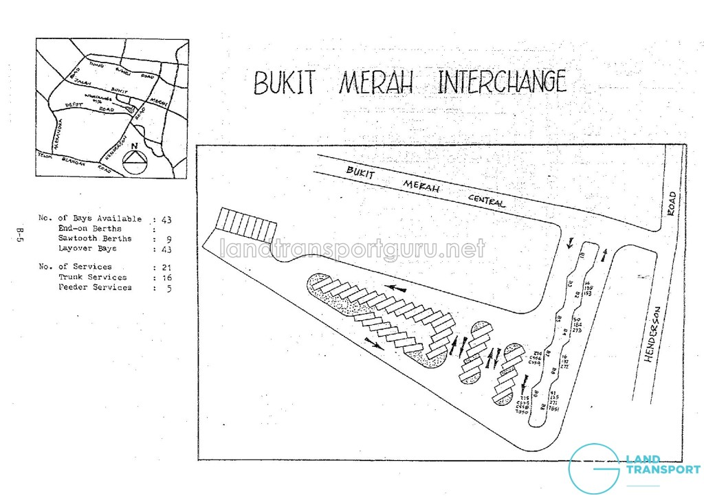Layout of Bukit Merah Bus Interchange