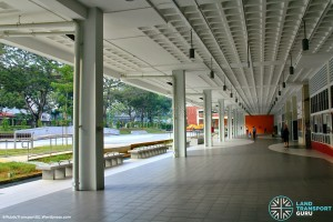 Old Serangoon Bus Interchange in 2014, converted into a Community Hub. The interchange concourse has been converted into facility rooms and multi-use spaces..