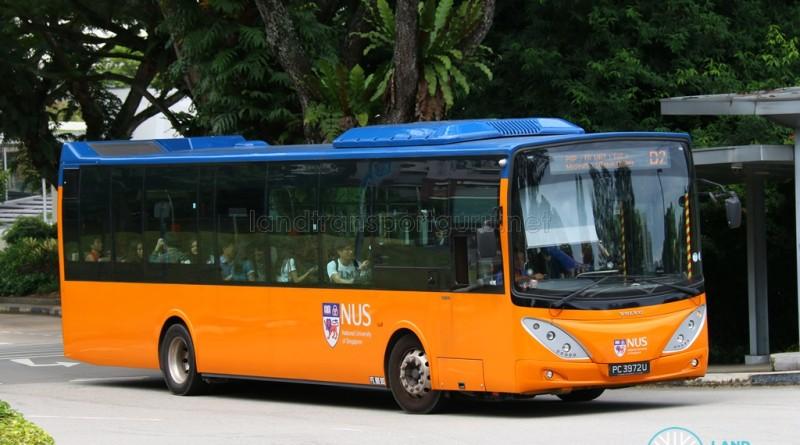 NUS Volvo B9L - Internal Shuttle Bus D2 (PA3972U)