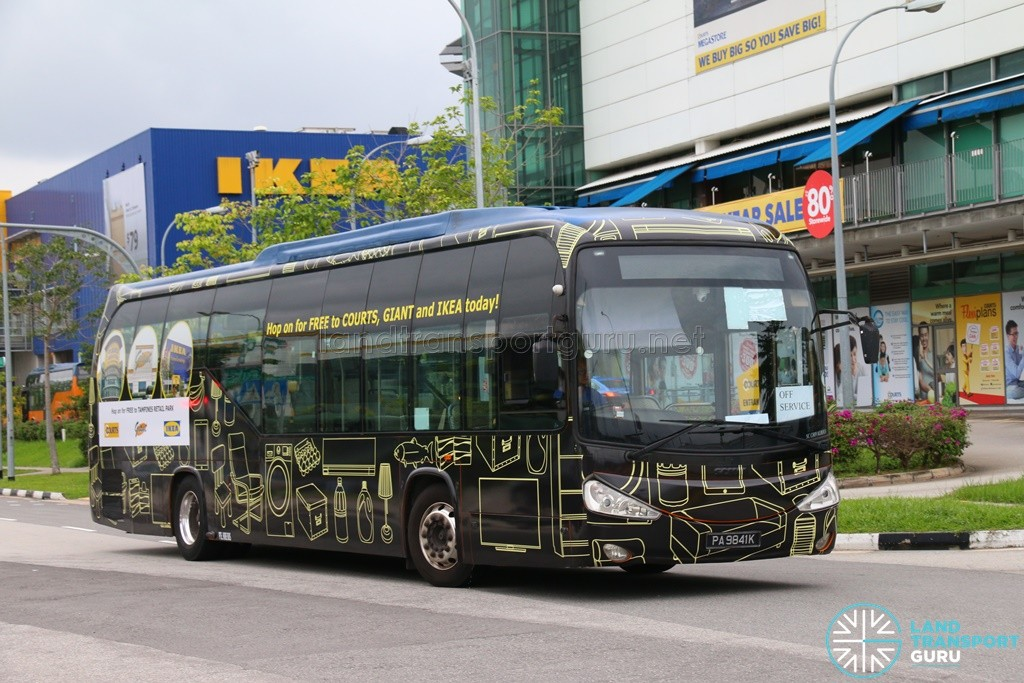 tampines retail park free shuttle bus services land. Black Bedroom Furniture Sets. Home Design Ideas