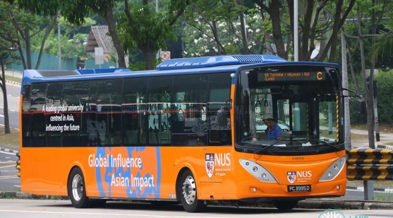 NUS Volvo B9L - Internal Shuttle Bus C (PC3995D)