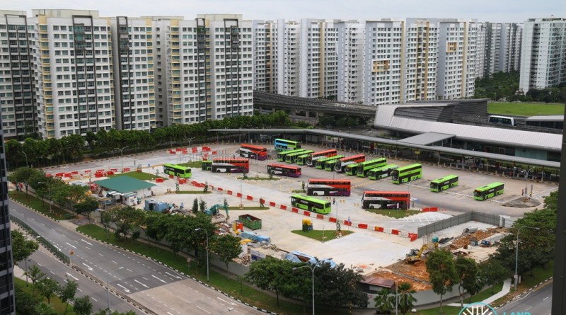 Aerial View of Punggol Bus Interchange Extension Construction (Phase 1 Opened - Late Jan 2017)