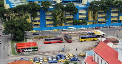 Queen Street Bus Terminal - Aerial view