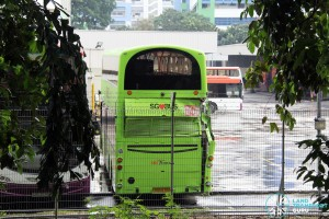 SG5570B's rear damage at Bedok North Bus Depot