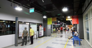 Sengkang Bus Interchange - Information board and Guide racks