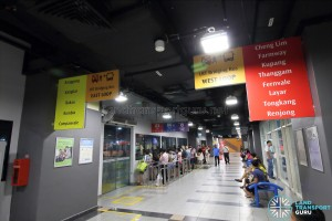 Sengkang Bus Interchange - LRT Bridging Bus Queues