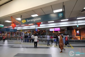 Serangoon Bus Interchange - nex entrance near Berth B1