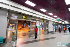 Serangoon Bus Interchange - Alighting berths