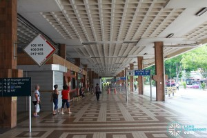 Old Serangoon Bus Interchange in 2011, prior to its closure. View of interchange concourse.