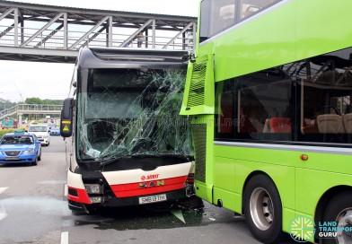 Bus Accident along Ulu Pandan Road on 16 January 2017
