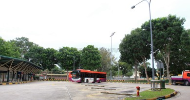 Upper East Coast Bus Terminal in March 2013 - Bus park