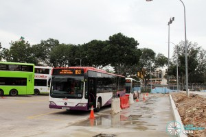Upper East Coast Bus Terminal - Parallel SMRT lots