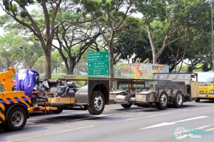 Volvo B9TL Chassis on delivery to Bus Assembly at Hougang