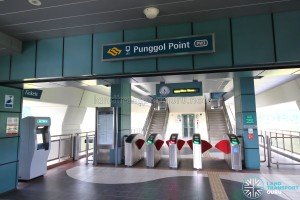 Punggol Point LRT Station - Concourse level faregates