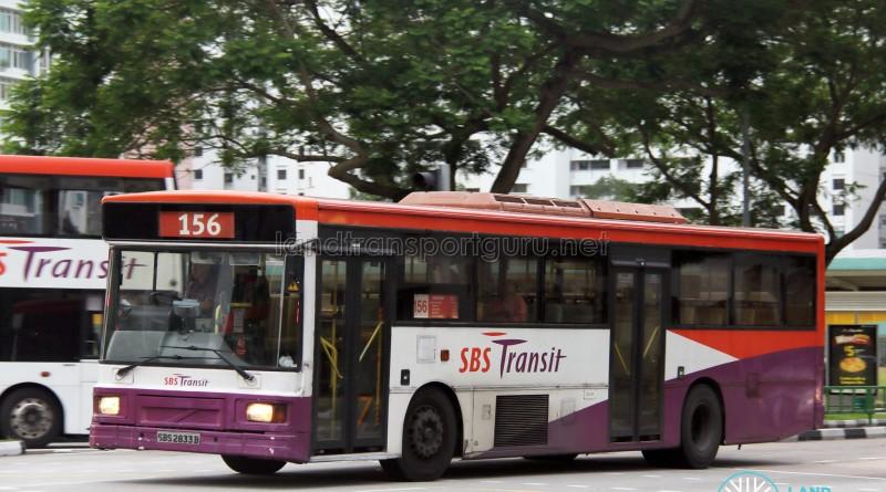 SBS Transit Volvo B10M MkIV (SBS2833B) - Service 156