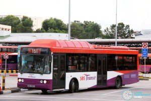 SBST Volvo B10BLE CNG (SBS2995S) - Service 151