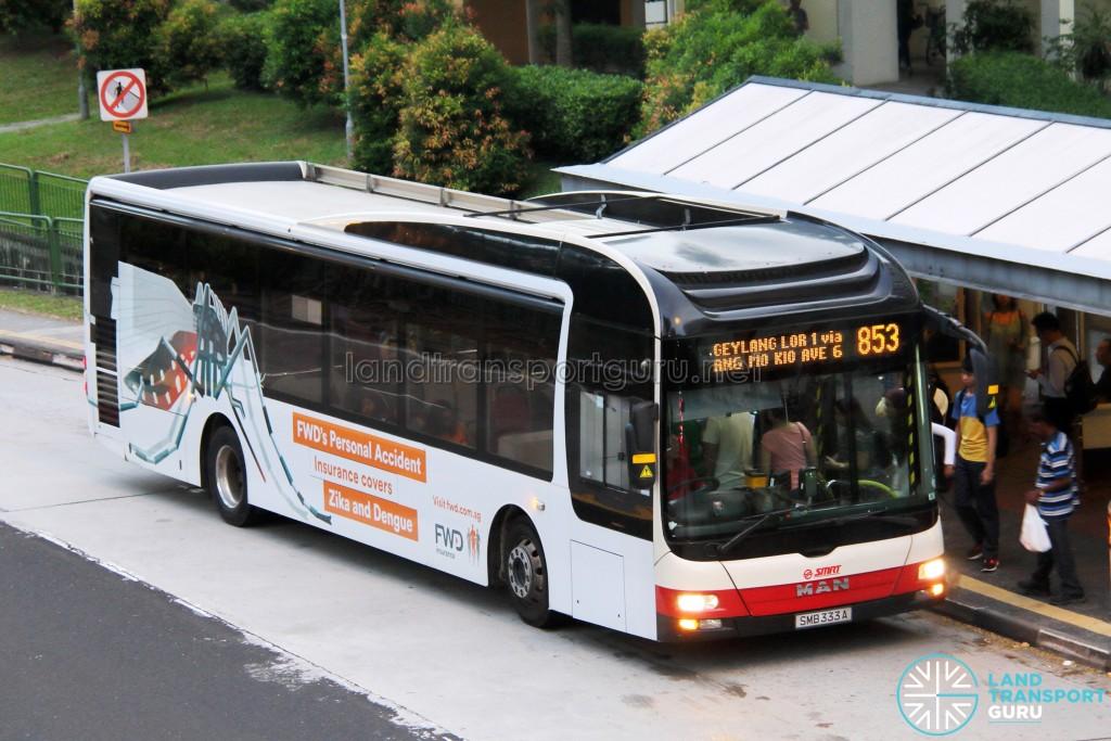 SMRT MAN A22 (SMB333A) - Service 853