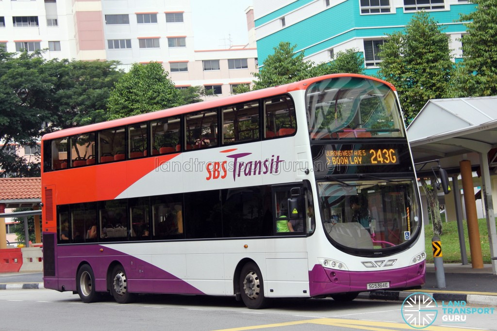 Service 243G is one of 26 bus services under the Jurong West Bus Package