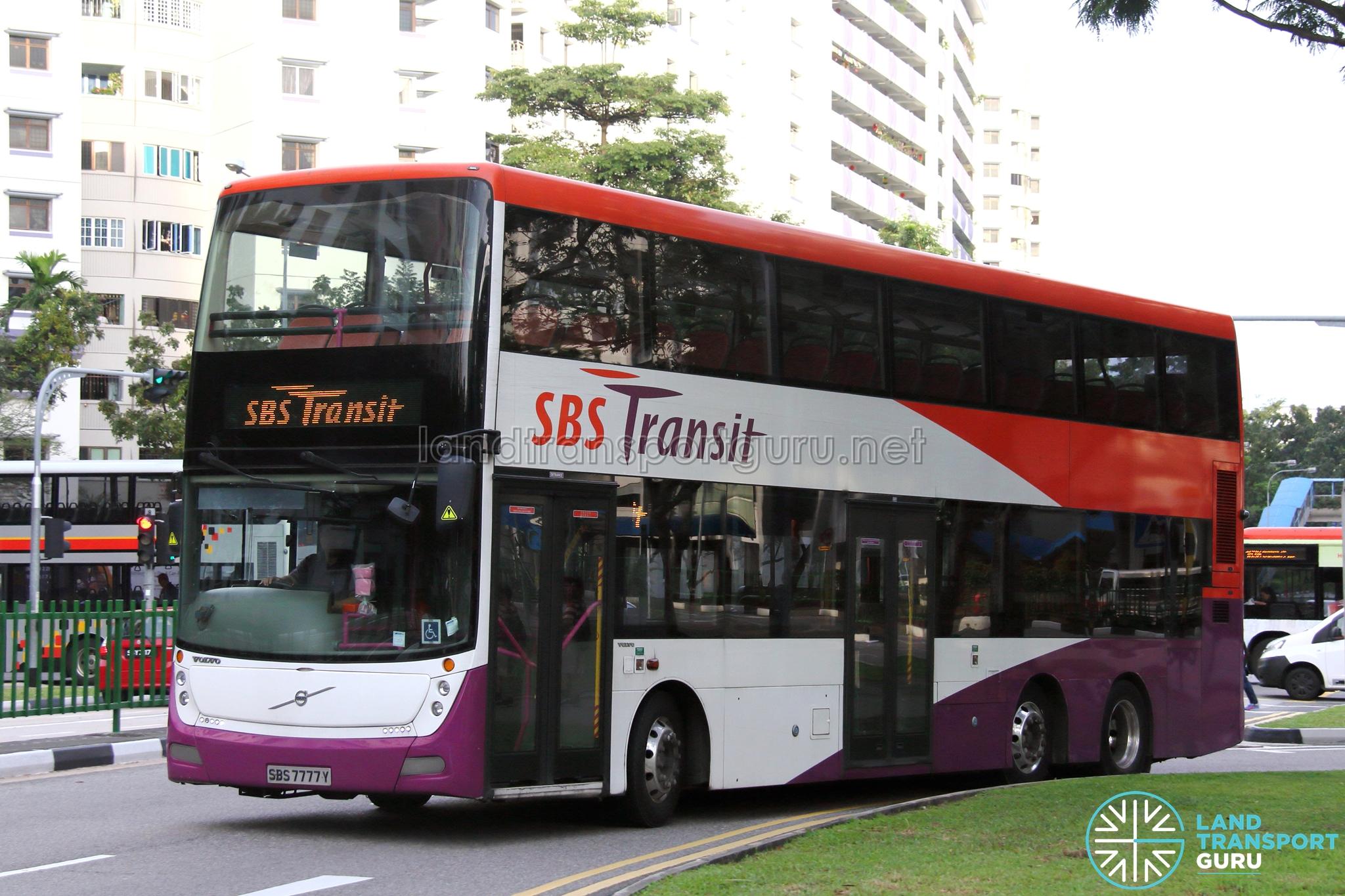 Sbs Transit Volvo B9tl Gemilang Sbs7777y Training Bus