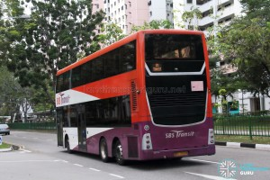 SBS Transit Scania K310UD (SBS7888K) - Training Bus - Rear